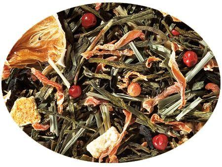 Kuss der Karibik schwarz grüner Tee