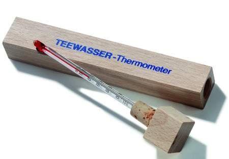 Teewasser Thermometer in edler Holzverpackung