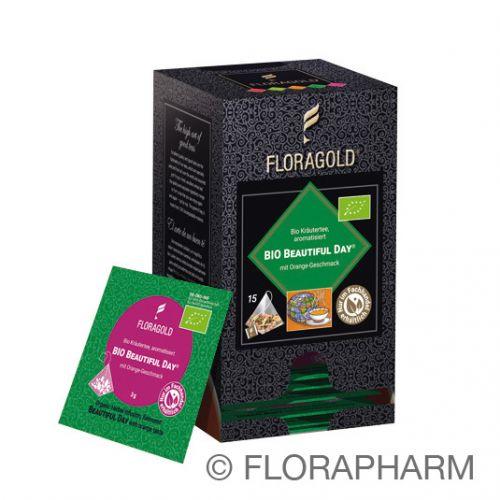 Beautiful Day Bio Kräutertee im Pyramidenbeutel Box von Floragold