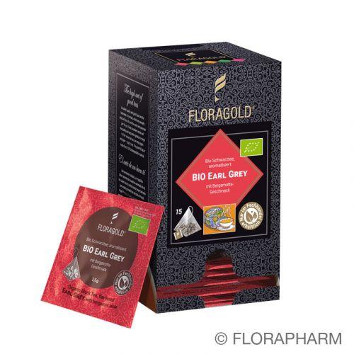 Earl Grey Bio Schwarztee im Pyramidenbeutel Box  von Floragold