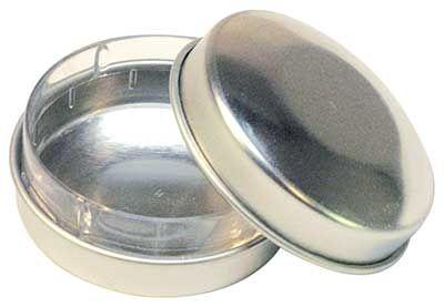 Pillendose silber mit Einsatz