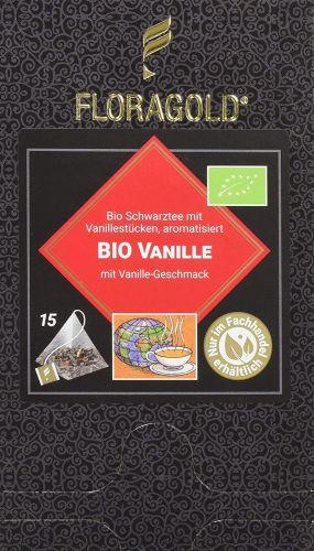Vanille Bio Schwarztee im Pyramidenbeutel Box von Floragold