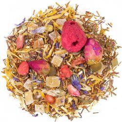 Sonnige Zeiten grüner Rooibos Tee mit Himbeer-Erdbeer-Geschmack