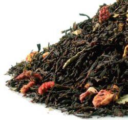 Erdbeer Sahne, schwarzer Tee