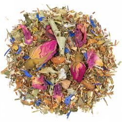 Romantische Träumerei grüner Rooibos Tee mit Pfirsich Note