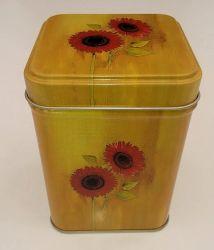 Tee Dose gelb mit roter Gerbera ca. 100 gr.