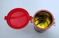 Katzen Tee Dose TED geprägt rund mit Aroma-Bügel-Verschluss ca. 70 gr.