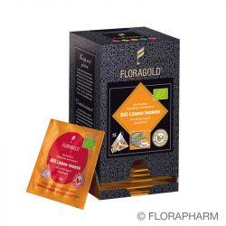 Lemon Ingwer Bio Rooibos Kräutertee im Pyramidenbeutel Box von Floragold