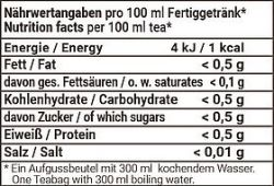 Lemon Ingwer Bio Rooibos Kräutertee im Pyramidenbeutel Box