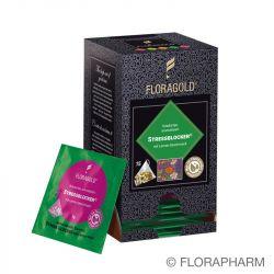 Stressblocker Kräutertee aromatisiert mit Lemongeschmack im Pyramidenbeutel Box von Floragold