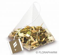 Stressblocker Kräutertee aromatisiert mit Lemongeschmack im Pyramidenbeutel Box