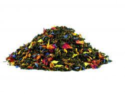 Glückstee - Aromatisierte Grünteemischung mit Zuckerstücken, Pfirsich / Waldfrucht / Bergamotte - Geschmack
