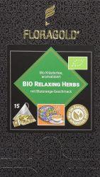 Relaxing Herbs Bio Kräutertee im Pyramidenbeutel Box von Floragold